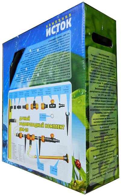 Фотографии упаковки дачного водопровода ДВК-25