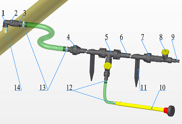 Схема установки дачного водопровода ДВК-25