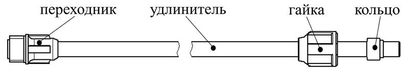 Схема удлинителя УД-01М